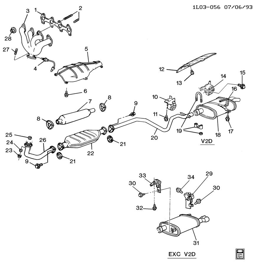 [DIAGRAM] 95 Chevy Corsica Exhaust Diagram FULL Version HD