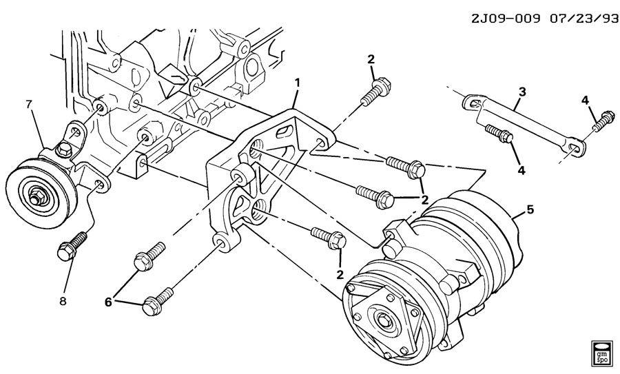 Pontiac Sunbird A/C COMPRESSOR MOUNTING