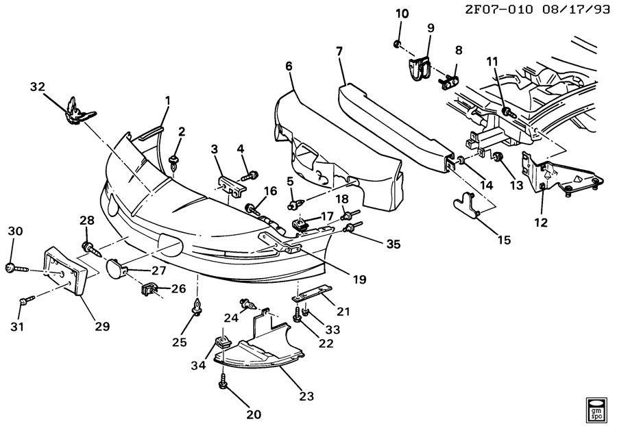 1994 Pontiac Firebird BUMPER/FRONT