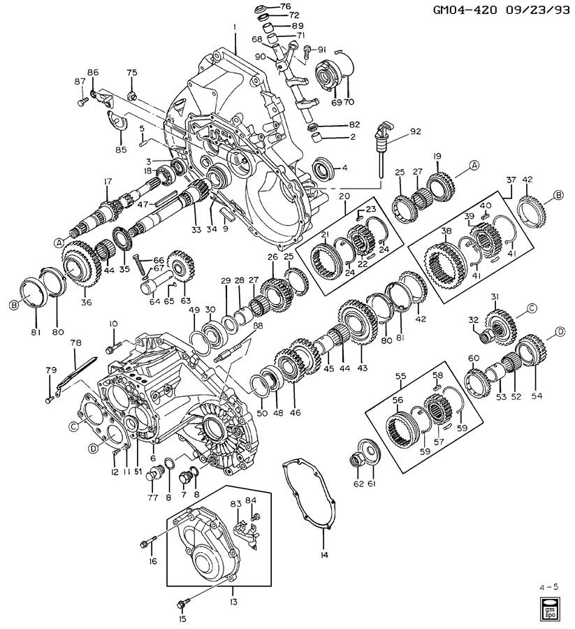 5-SPEED MANUAL TRANSAXLE PART 1
