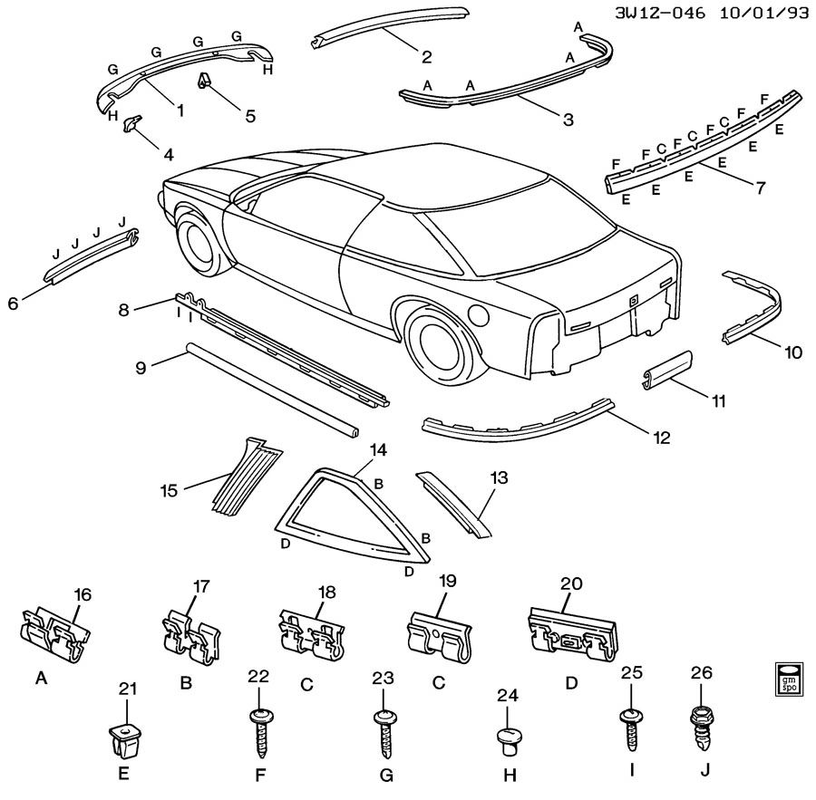 1995 Oldsmobile Cutl Supreme Parts Diagram. Oldsmobile