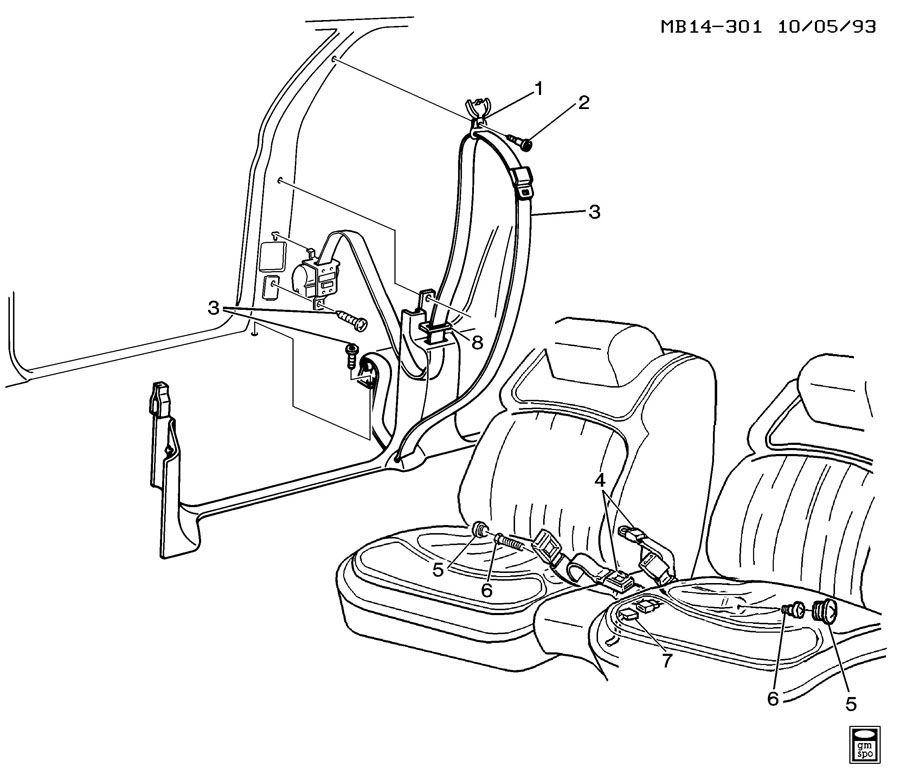 Service manual [1992 Buick Riviera Repair Seat Belt