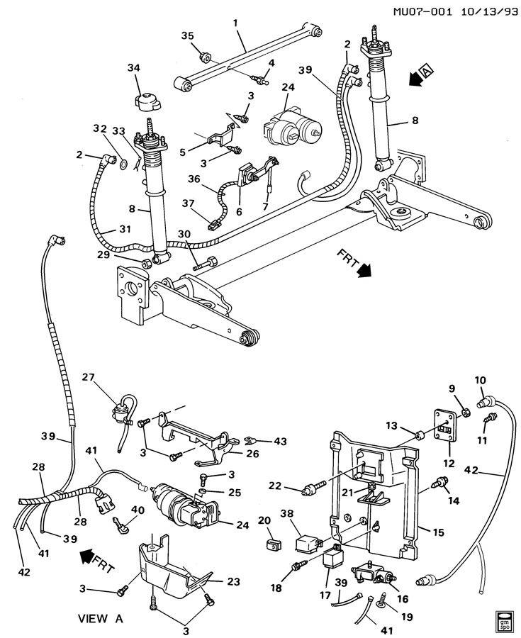 Pontiac Trans Sport LEVEL CONTROL SYSTEM/AUTOMATIC