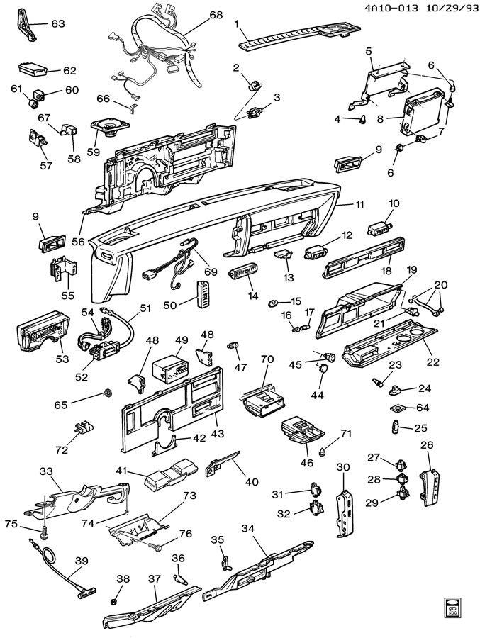 1991 Chevrolet V3500 INSTRUMENT PANEL