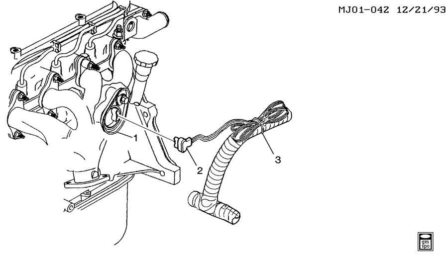 2001 Chevrolet Cavalier ENGINE BLOCK HEATER