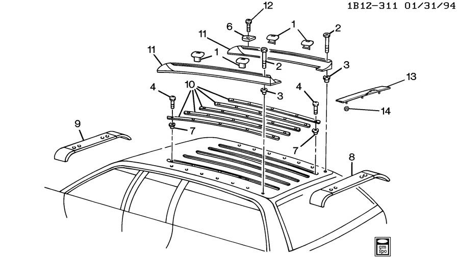 1991 Chevrolet Caprice LUGGAGE CARRIER/ROOF