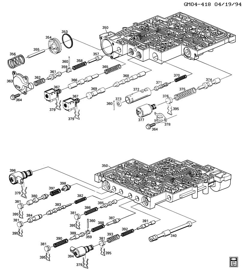 Search Results Exploded View Of 4l60e Automatic