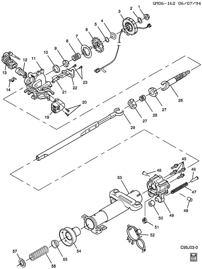 [1993 Chevrolet Cavalier Tilt Steering Column Repair