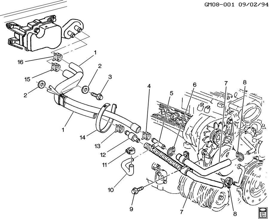 5 7l Chevy Engine Parts Diagram 2001 Saab Radiator Diagram