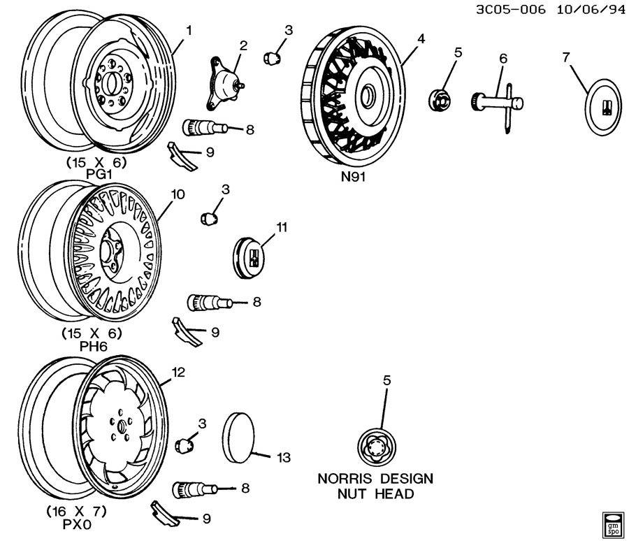 1994 Oldsmobile 98 Regency WHEELS & WHEEL COVERS