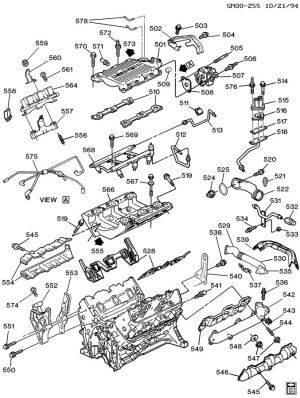 ENGINE ASM31L V6 PART 5 MANIFOLDS & FUEL RELATED PARTS