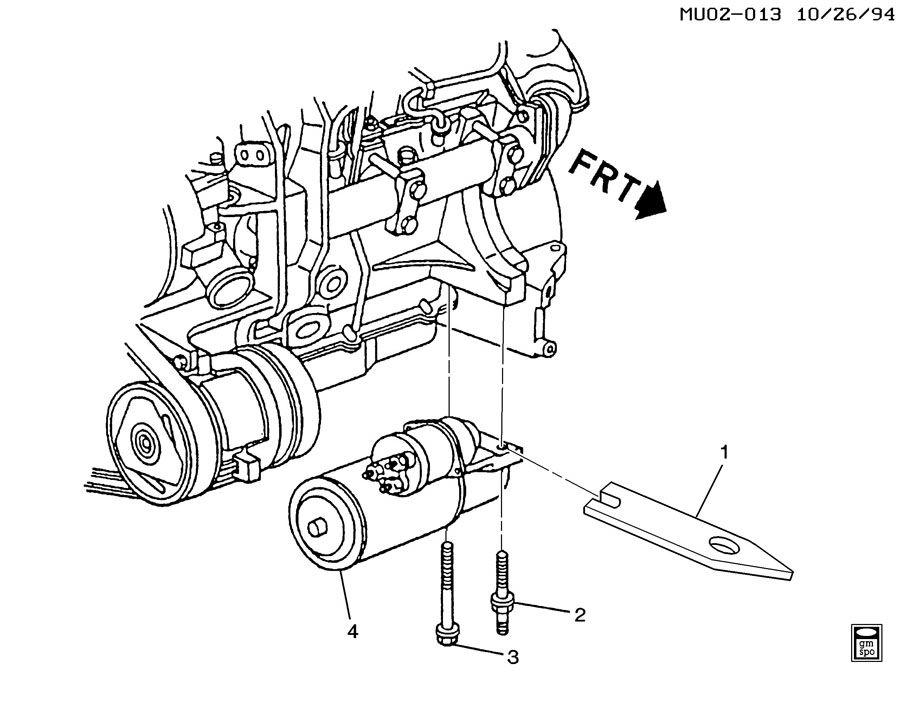 Chevrolet Lumina STARTER MOTOR MOUNTING