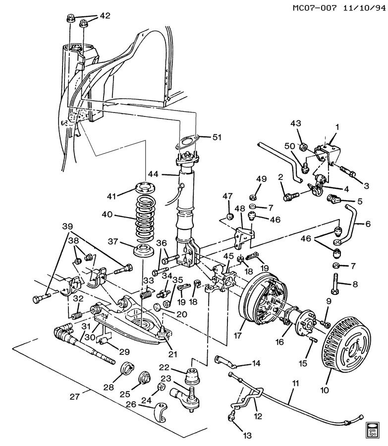 1993 Park Avenue; Rear suspension question