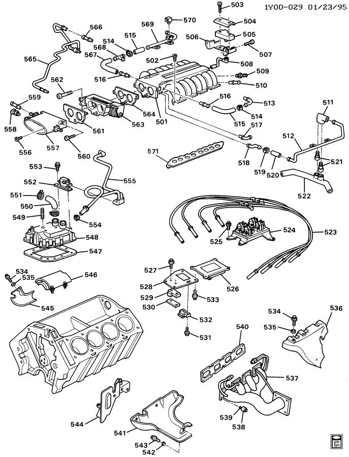 ENGINE ASM-5.7L V8 PART 5 A MANIFOLDS AND FUEL RELATED PARTS