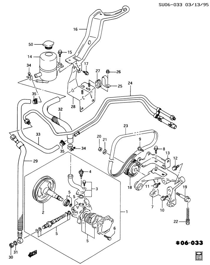 Chevrolet Sprint STEERING/BRAKE PUMP ASM