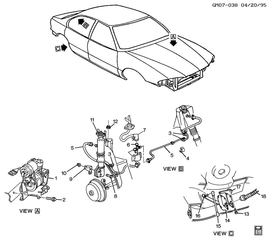 2002 Chevrolet Venture LEVEL CONTROL SYSTEM/AUTOMATIC