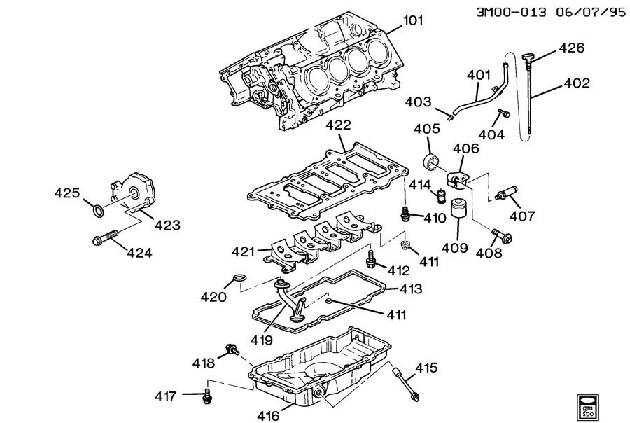 ENGINE ASM-4.0L V8 PART 4 OIL PUMP, PAN & RELATED PARTS