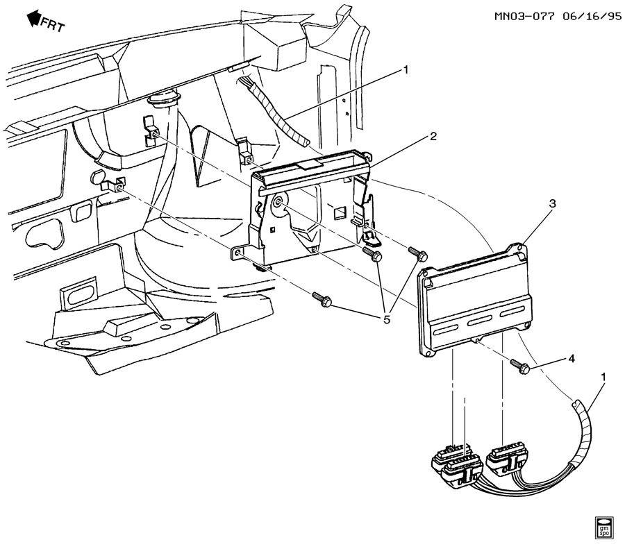 1996 Buick Skylark P.C.M. MODULE & WIRING HARNESS-L4-2.4L