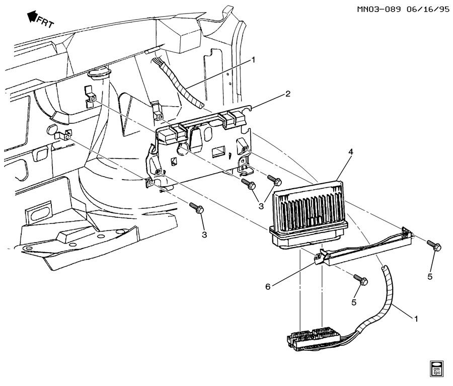 P.C.M. MODULE & WIRING HARNESS-V6-3.1L