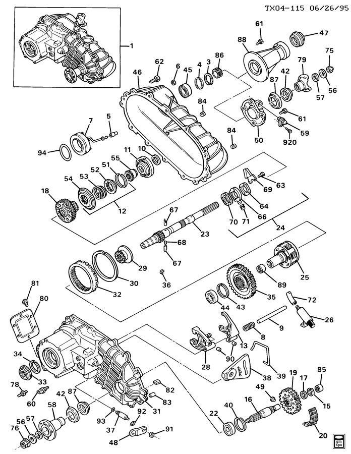 K310,314 TRANSFER CASE; TRANSFER CASE