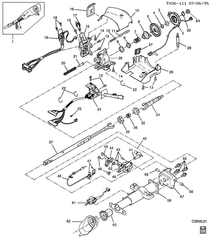 Service manual [Steering Column Removal 1994 Oldsmobile