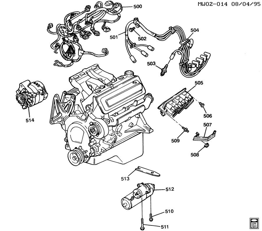 1997 Chevrolet Lumina ENGINE ELECTRICAL