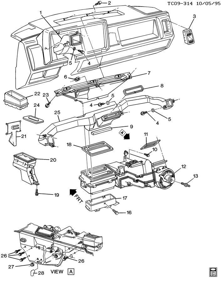 AIR DISTRIBUTION SYSTEM/INSTRUMENT PANEL