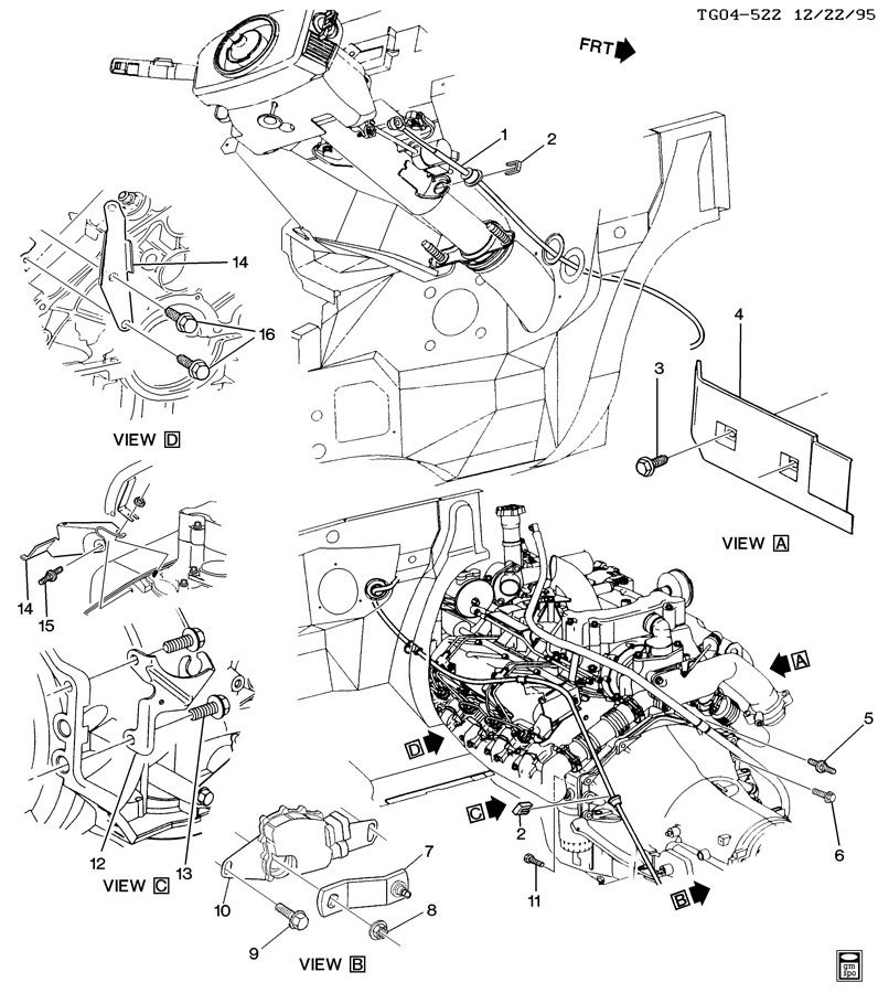 SHIFT CONTROL/AUTOMATIC TRANSMISSION & RELATED AREA
