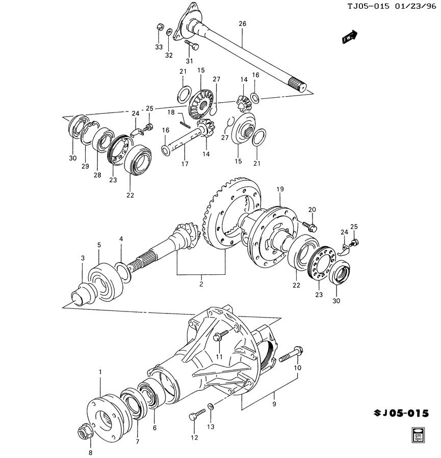 Service manual [How To Remove Front Differential 1997 Geo