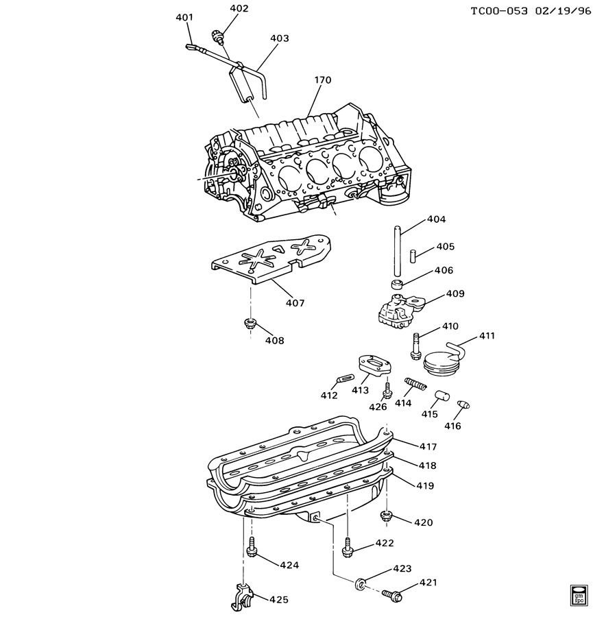 ENGINE ASM-5.0/5.7L V8 PART 4 OIL PUMP,PAN & RELATED PARTS