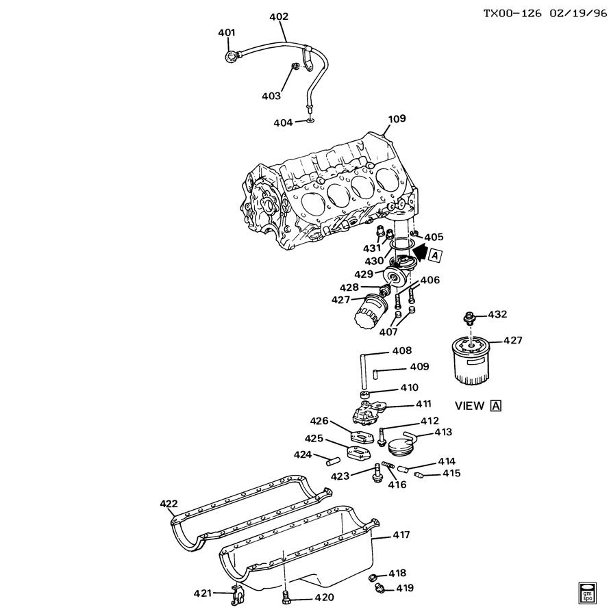 ENGINE ASM-7.4L V8 PART 4 OIL PUMP,PAN & RELATED PARTS