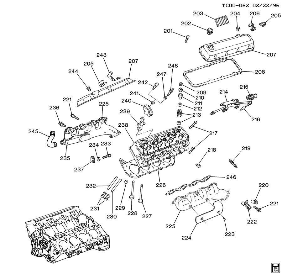 ENGINE ASM-7.4L V8 PART 2 CYLINDER HEAD & RELATED PARTS