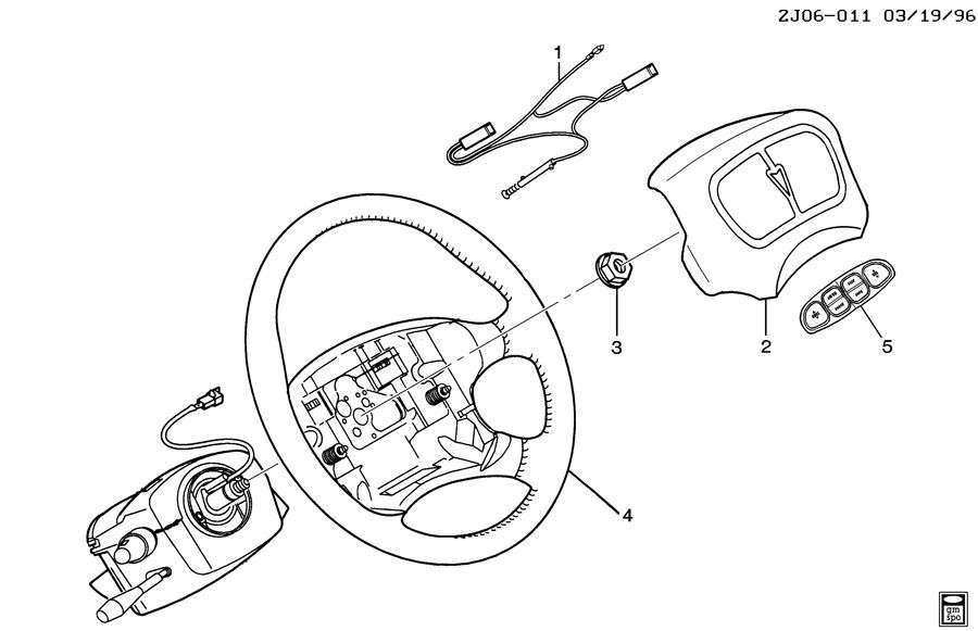 Service manual [Steering Wheel Removal 1998 Pontiac