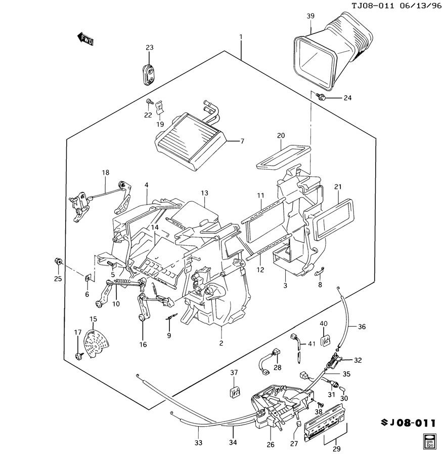 [Instruction For A 1997 Geo Tracker Heater Core
