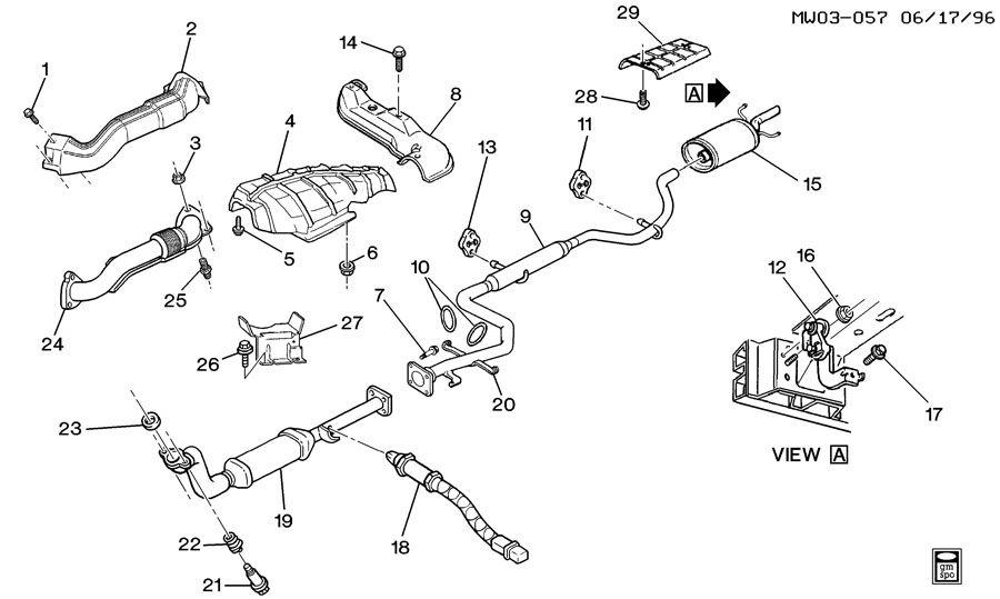 1997 Oldsmobile Cutlass EXHAUST SYSTEM-V6