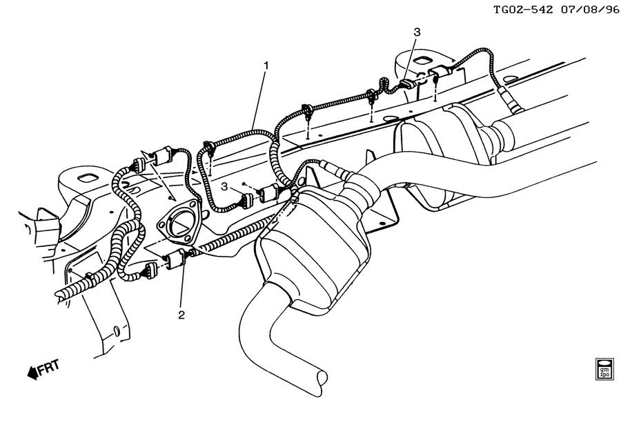 WIRING HARNESS/SECONDARY OXYGEN SENSOR)
