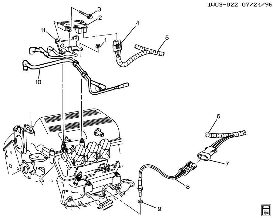1999 Chevrolet Monte Carlo M.A.P. & OXYGEN SENSORS