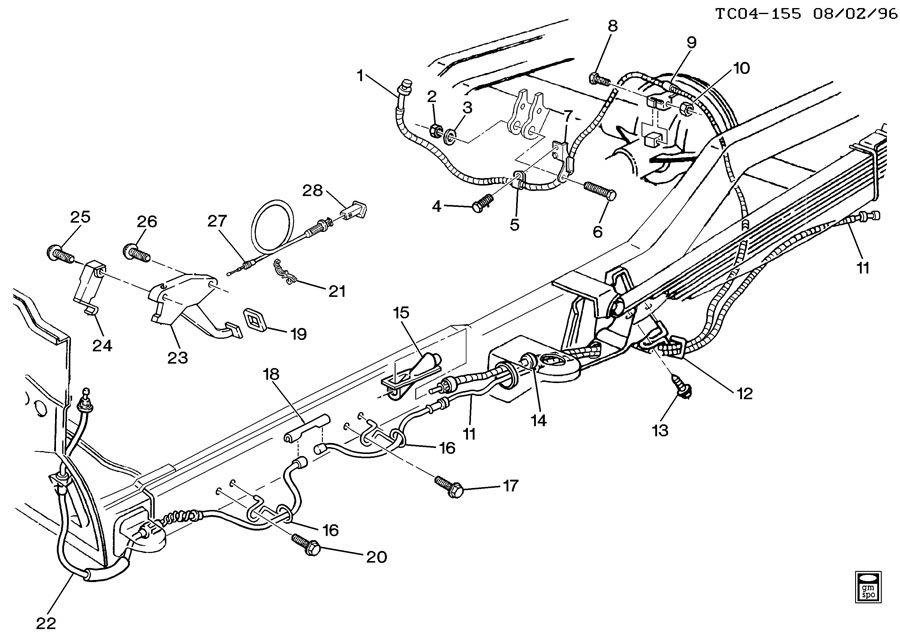 Chevrolet C10 PARKING BRAKE SYSTEM