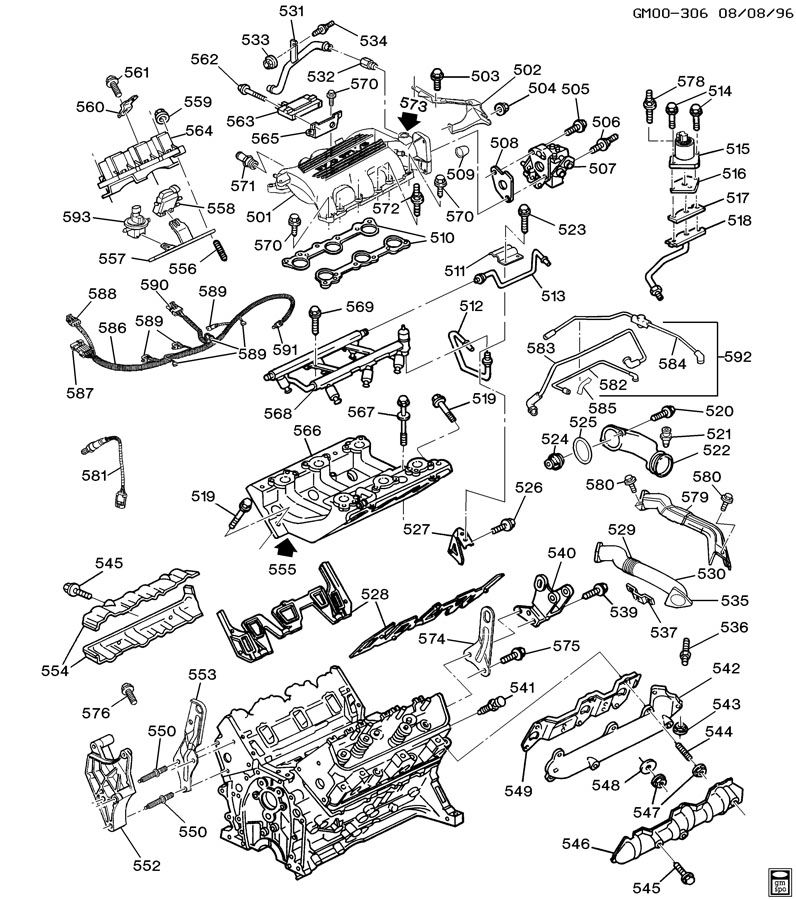 ENGINE ASM-3.1L V6 PART 5 MANIFOLDS & FUEL RELATED PARTS