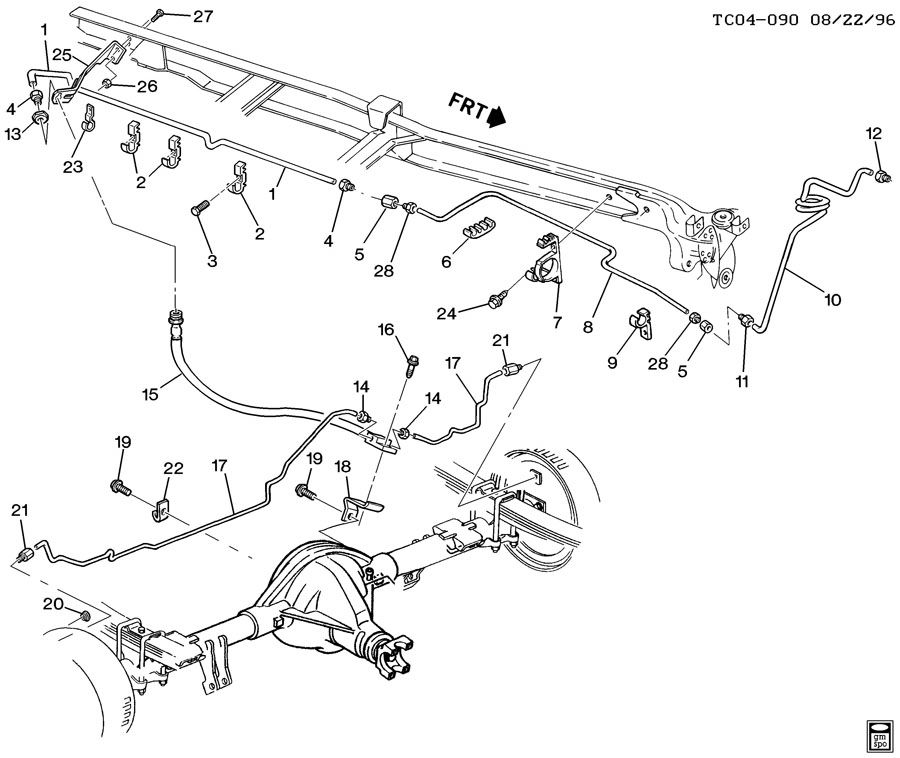 Service manual [1996 Chevrolet 2500 Brake Line Replacement