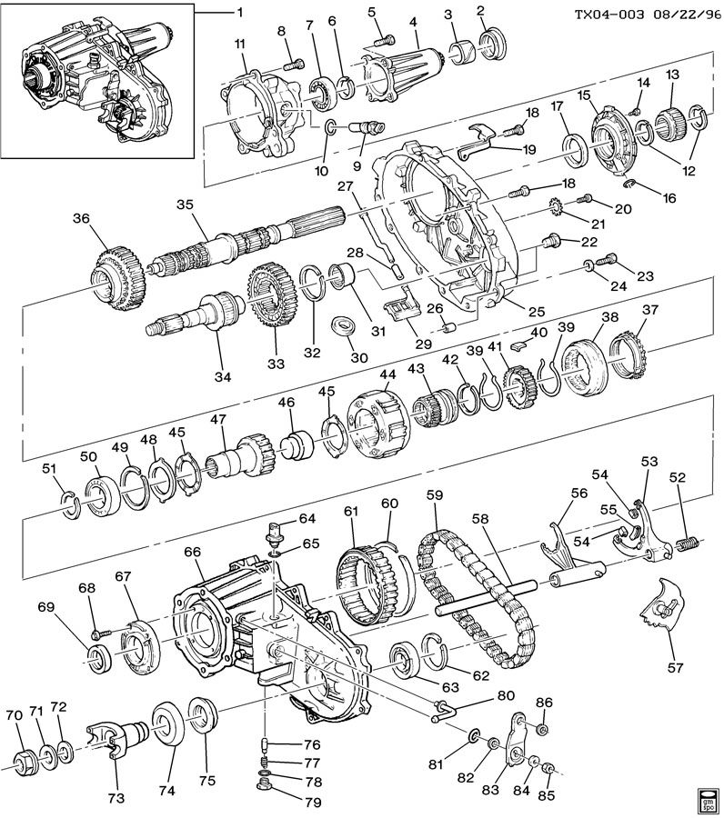 Cadillac TRANSFER CASE