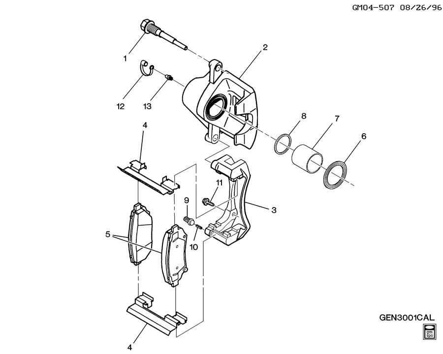 BRAKE CALIPER SEAL KIT/GENUINE GM PART 18017156-BUICK