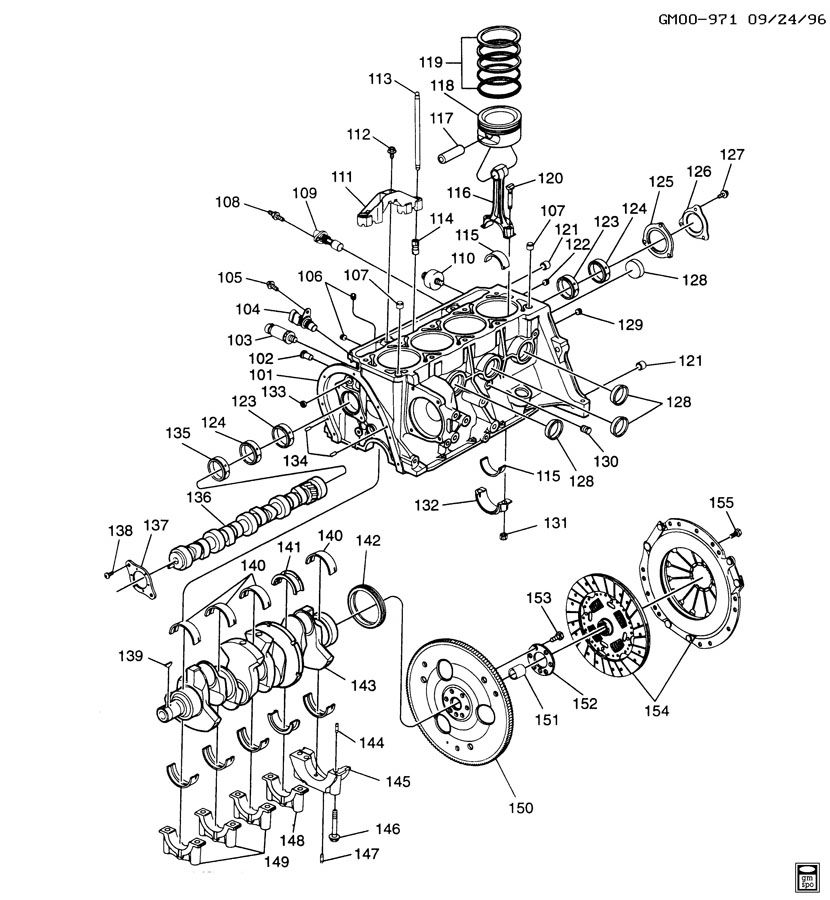 ENGINE ASM-2.2L L4 PART 1 BLOCK AND INTERNAL PARTS