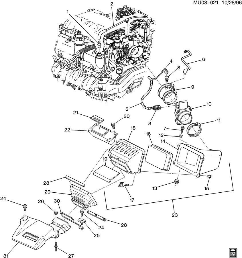 AIR INTAKE SYSTEM-V6
