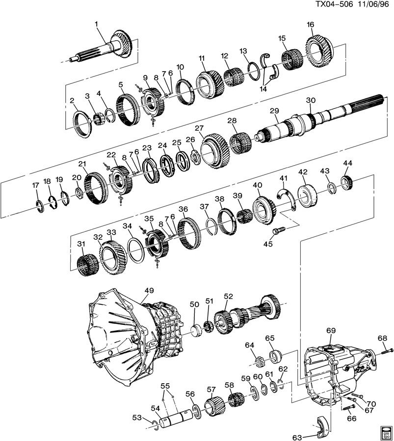 350 Chevy Automatic Transmission Parts Diagram • Wiring