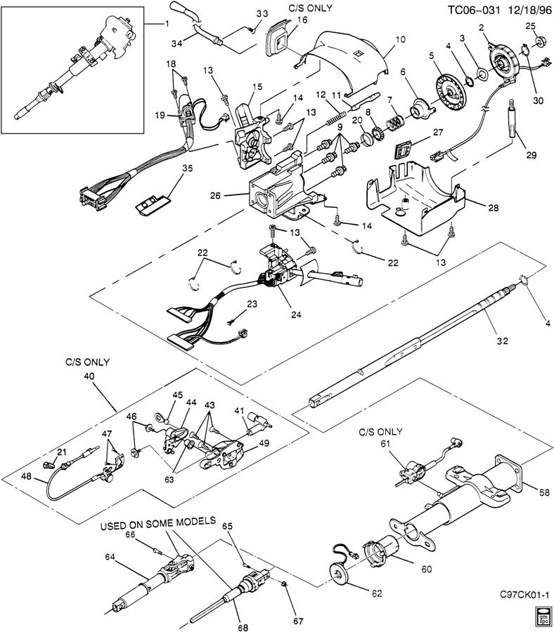 89 Gm Steering Column Diagram, 89, Free Engine Image For