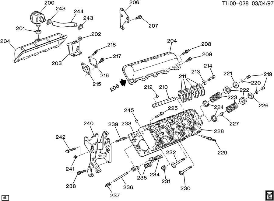 ENGINE ASM-6.5L V8 DIESEL PART 2 HEAD & RELATED PARTS