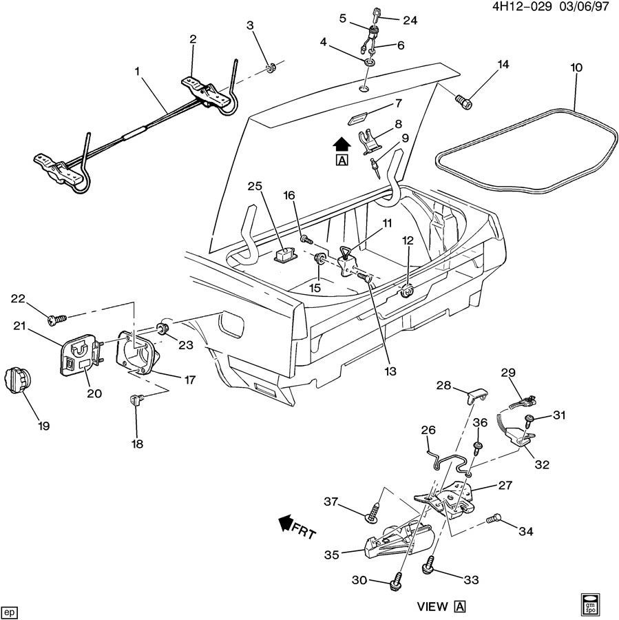 1993 Buick Lesabre REAR COMPARTMENT HARDWARE