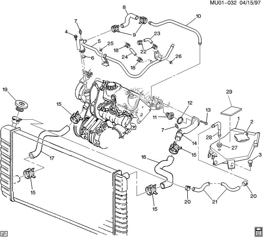 Pontiac MONTANA HOSES & PIPES/RADIATOR