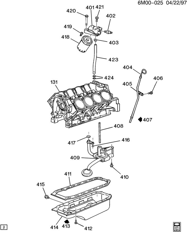ENGINE ASM-4.9L V8 PART 4 OIL PUMP, PAN & RELATED PARTS